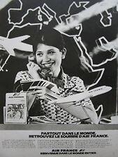 3/1983 PUB AIR FRANCE AIRLINE BOEING 747 AIRLINER DESK MODEL ORIGINAL FRENCH AD