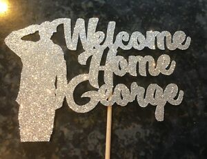 Personalised Welcome Home From The Army Cake Topper