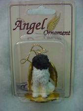 LANDSEER Dog ANGEL Ornament HAND PAINTED FIGURINE Resin Christmas RARE BREED