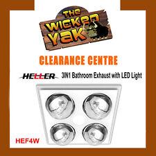 Heller 3in1 Bathroom Exhaust Fan+4 LED Heat Globes-HEF4W- WHITE - FREE SHIPPING