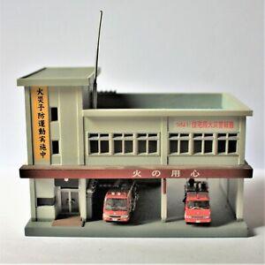 Tomytec N Gauge Fire Station plus 2 Engines