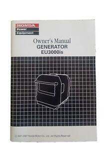 Honda Generator Model EU3000is Owners Manual NEW