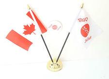 CANADA & TOKYO GIAPPONE OLIMPIADI 2020 DA SCRIVANIA BANDIERE & 59mm Set badge