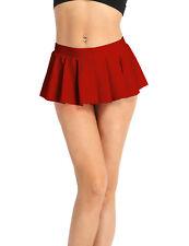 Women Schoolgirl Pleated Mini Skirt Cocktail Party Dress Skater Short Skirt Club