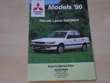 53267) Mitsubishi Galant Lancer Colt Pajero Ungarn Prospekt 1990