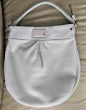 MARC JACOBS Classic Q Hillier Leather Hobo Shoulder Bag Ice Blue Gray NWOT