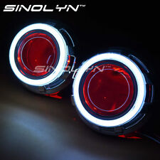 3.0'' D2S HID Bi xenon Lens Projector Headlight DRL Angel Eyes Halo Devil Eyes