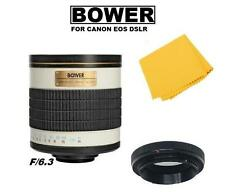 Bower 500mm f/6.3 Telephoto Mirror Lens For Canon EOS T7i T6i T6s 80D 70D 800D