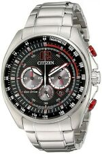 Citizen ECO-Drive CA4190-54E Chronograph Stainless Steel Red Accent Men's Watch