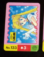 SAILOR MOON MINI CARD CARDDASS CARTE N° 133 SAILORMOON REGULAR INTROUVABLE **