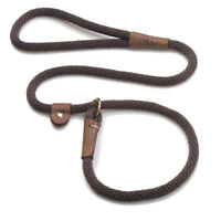Mendota - Dog Puppy  Leash - British Style Slip Lead - Dark Brown - 4, 6 Foot