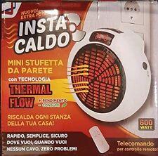 INSTA CALDO MINI STUFETTA DA PARETE CON TELECOMANDO