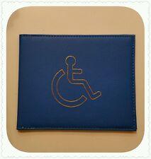 Parcheggio disabili Blu Safe Badge Holder PROTEZ Wallet PU Pelle Nuovo!