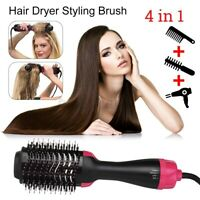 4in1 Electric Hot Air Styler Curler Hair Styling Roll Hair Brush Comb Hairdryer