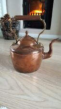 Vintage Copper and brass Kettle With Lid