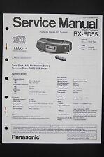 Panasonic rx-ed55 RADIO CASSETTE REPRODUCTOR MANUAL DE SERVICIO / ESQUEMA