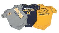Murray State Racers Official NCAA Baby Infant Size 3 Piece Creeper Combo Set New