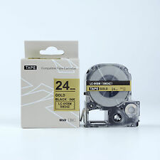 Compatible EPSON LC-6KBM LW700 Label Tape Black on Gold 24mm 8m 1 x 26""