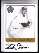 "2001 FLEER GREATS OF THE GAME MONTE IRVIN ""DIED JAN 11 2016"" AUTOGRAPH AUTO"