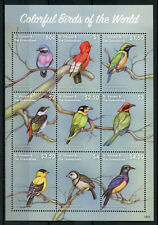 St Vincent & Grenadines 2018 MNH Colorful Birds of World Finches 9v M/S Stamps