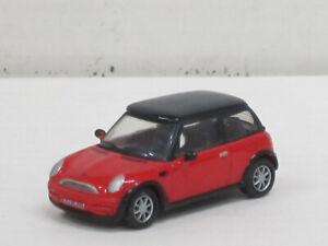 Mini Cooper in rot mit schwarzem Dach, ohne OVP, Joy City, 1:72