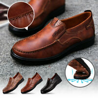 Menico Men's Summer Loafers Leather Shoes Antiskid Comfort Casual Breathable