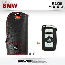 Leather Key fob Holder Case Chain Cover For BMW 7 Series E65 E66 E67 E68 735i