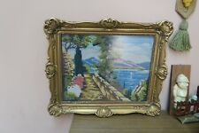"Vintage Hand Made Stitched Needlepoint 13"" x 17"" - 18"" x 22"" Finely Framed"