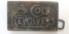 Revolver COLT Stile Fibbia della Cintura PLACCA display vintage American Retro Classiche