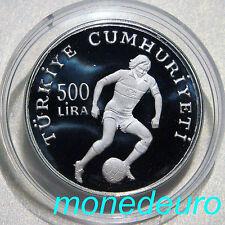 TURQUIA 1982 500 LIRA PLATA PROOF KM#952 MUNDIAL FUTBOL ESPAÑA 82