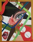 """Original Modern Contemporary Abstract Painting on 20""""h x 16""""w canvas."""