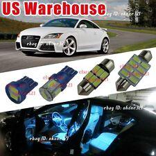 5-pc Aqua Blue LED Light Interior Package Lamp Kit For 07-15 Audi TT TTS 8J