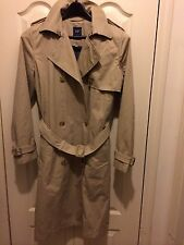 Gap Women's Size M, Classic Trench Coat Oak Khaki, Cotton,heavyweight Nwt $138