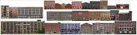 TRACKSIDE BACKDROP #403 Industrial buildings HO Scale