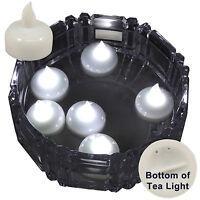 6 X Waterproof LED Floating White Tea Light Flameless Candle Wedding Party Xmas