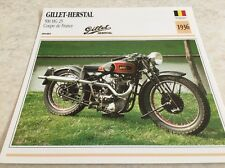 Fiche moto collection Atlas Motorcycle Gillet Herstal 500 HG25 1936