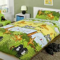 Jungle Safari Animal Housse Couette Simple & Set Taie D'Oreiller Literie