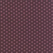 ALICES SCRAPBAG~BY 1/2 YD~MODA FABRIC~8311-18~CIVIL WAR~MAUVE FLOWERS ON PURPLE