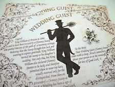WEDDING LUCKY CHIMNEY SWEEP (CHARM/GIFT CARD/ENVELOPE/TALE) GOOD LUCK WEDDING