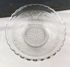 """6.5"""" Anchor Hocking Clear Sandwich Glass Deep Serving Bowl Vtg 1940's to 60's"""