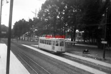 PHOTO  BELGIUM TRAM 1958 BRUXELLES-BRUSSEL . SNCV N CLASS CAR TRAM  9476  ON ROU