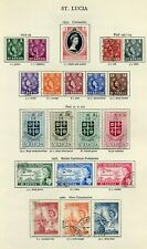 St Lucia 1953/56 Album Page Set SG171 to SG190 Fine Used