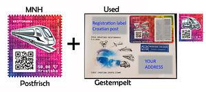 Crypto TRAIN + VAN Krypto Kroatien 2020 Ethereum Blockchain MNH + used