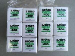 12x Ilford Delta 400 Professional 120 -  Black & White Film Expired COLD STORED