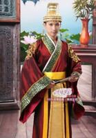 Chinese Traditional Costume Emperor Han Clothing Prince Show Cosplay Suit Robe