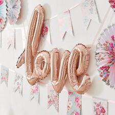 Folienballon 'Love' roségold 55 cm x 75 cm - Hochzeit Valentinstag JGA