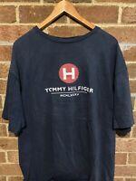 Vintage Tommy Hilfiger T-Shirt Spell Out Flag Logo Short Sleeve Mens Sz 2XL