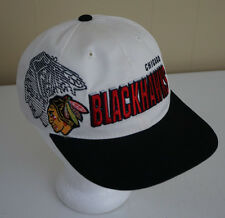 Vintage Chicago Blackhawks NHL Snapback Hat Cap Sports Specialties Shadow Script