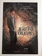 "BEAUTIFUL CREATURES ""B"" 11.5x17 PROMO MOVIE POSTER"
