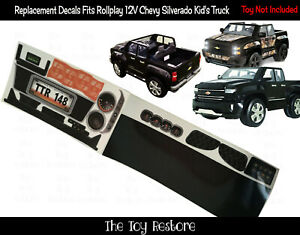The Toy Restore Replacement Stickers Fits Rollplay Chevy Silverado Truck 12V